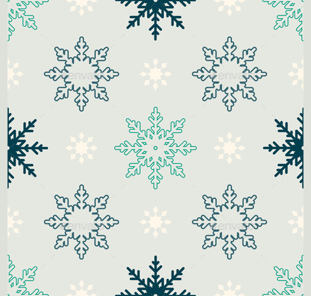 winter snowflake pattern design