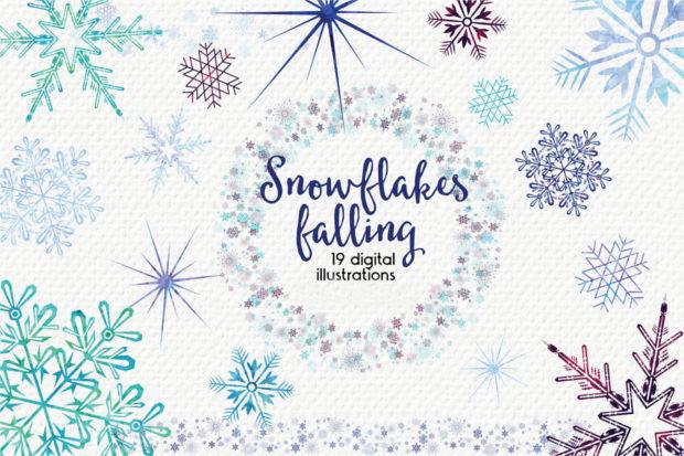 Falling Snowflakes Texture,