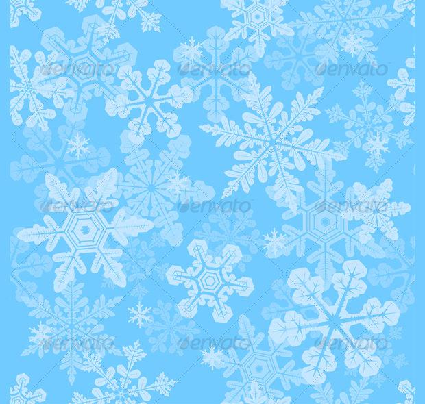 Seamless snowflakes texture design