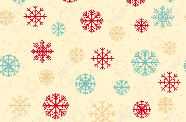 Vector Colorful Snowflake Texture ,