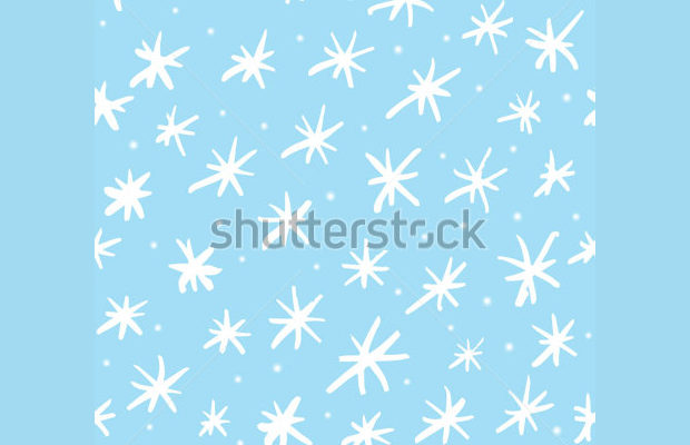 hand drawn cartoon snowflake designs
