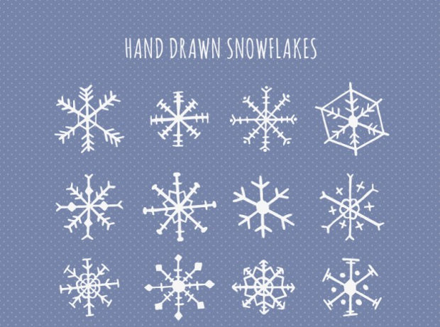 cute hand drawn snowflake design
