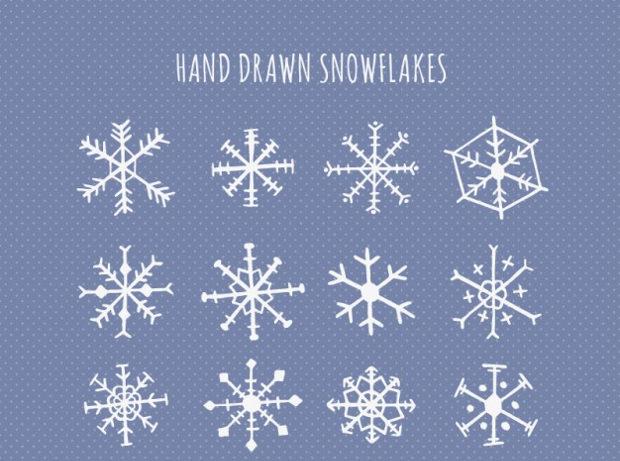 cute-hand-drawn-snowflake-design