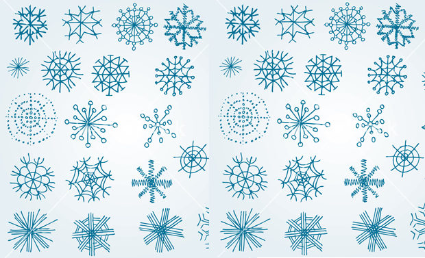 hand drawn vector snowflake design