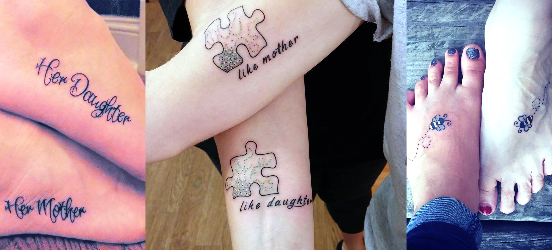10 Beautiful Mother Daughter Tattoos Design Trends Premium Psd