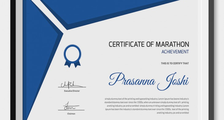 5 marathon certificates psd word designs design trends