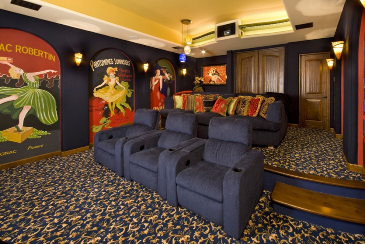 Vintage Home Theater Decor Design