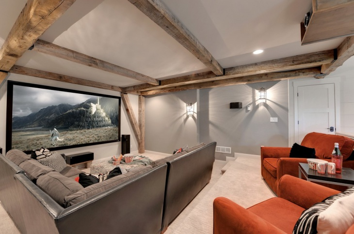 Small Basement Home Theater Idea