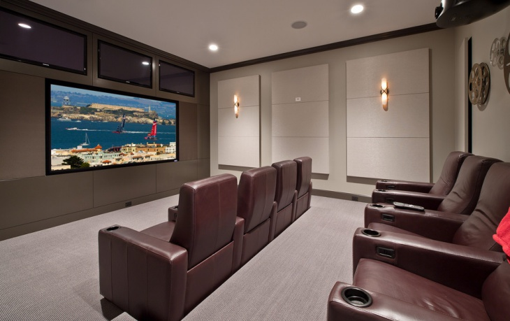 Basement Home Theater Seating Idea