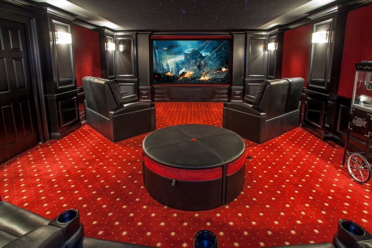 Traditional Home Theater Carpet
