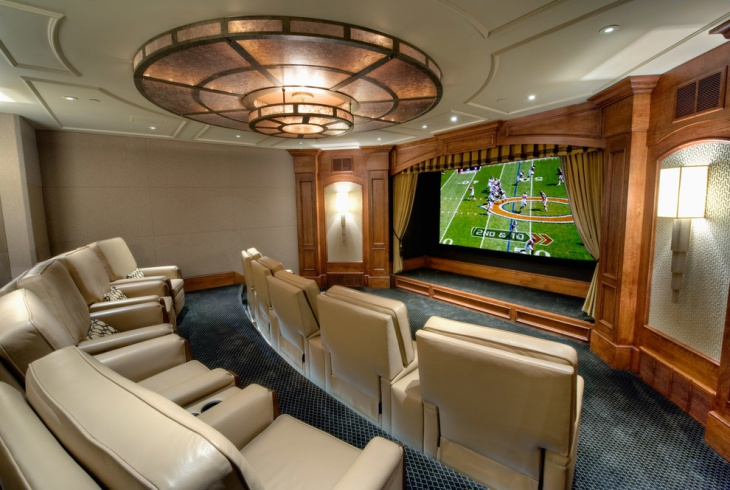 Home Theater Ceiling Light Design