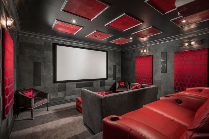 Stylish Home Theater Interior Design