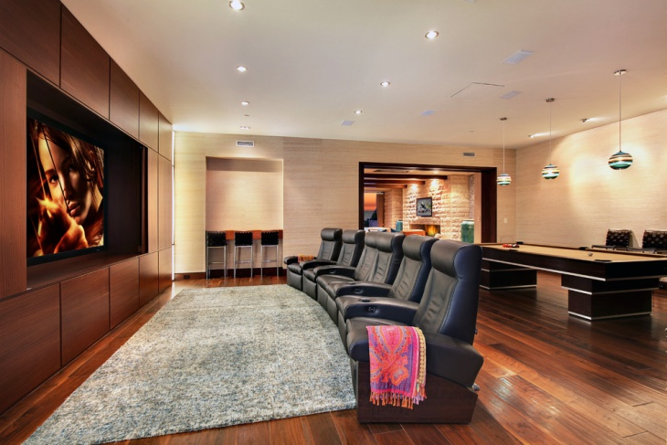Contemporary Home Theater Seating Idea