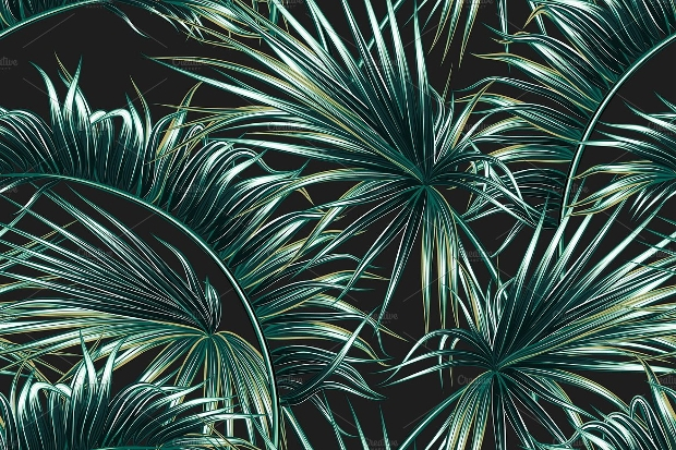 Palm Leaf Pattern Design