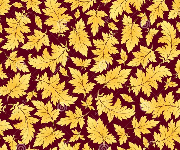 Gold Leaf Pattern Design