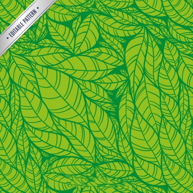 Hand Drawn Green Leaf Pattern