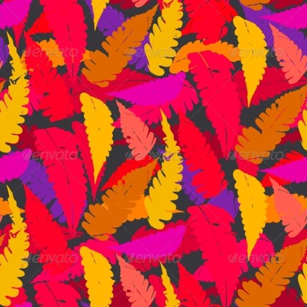 Autumn Fern Leaf Pattern