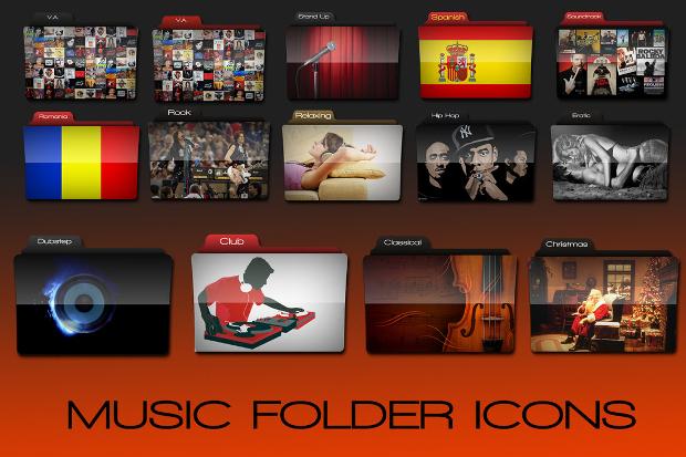 Music Folder Icons