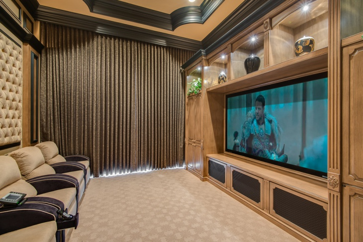 Small Home Theater Decorating Idea
