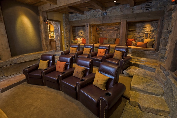 Rustic Home Theater Furniture Design