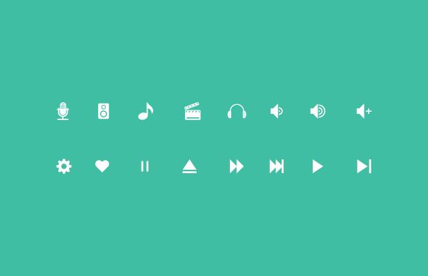 Minimal Music Icons