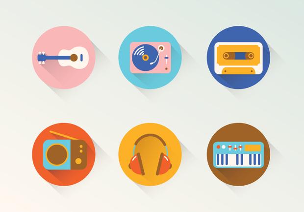 Round Music Icons