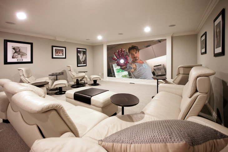 Basement Home Theater Remodeling Design