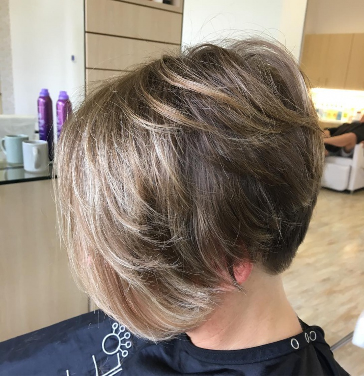 Short A Line Haircut with Bangs