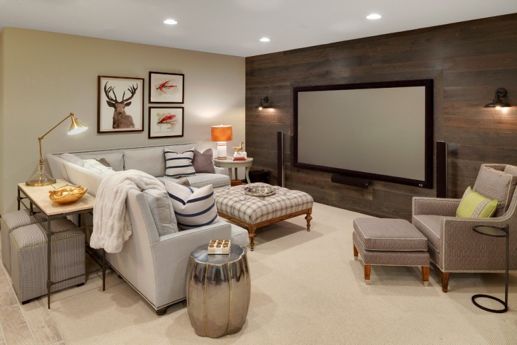 Genial Home Theater Screen Wall Design