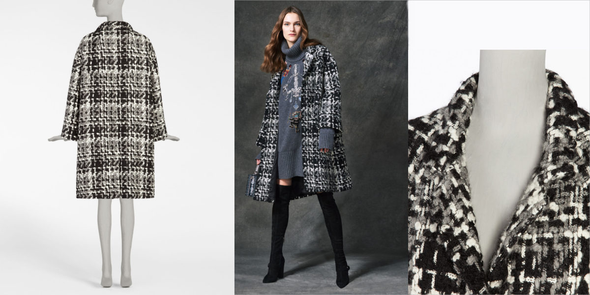 Oversize Tweed Coat
