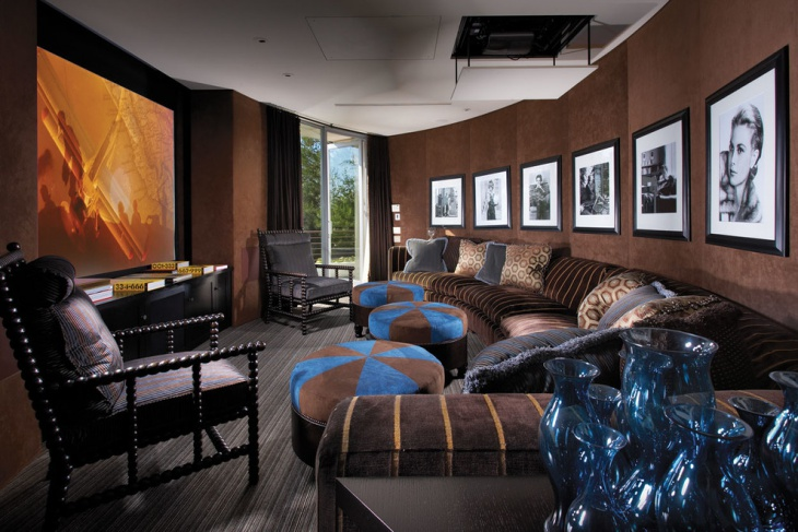Home Theater Wall Decor Idea
