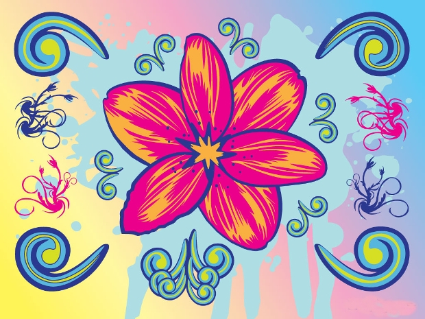 Cool Flower Clipart