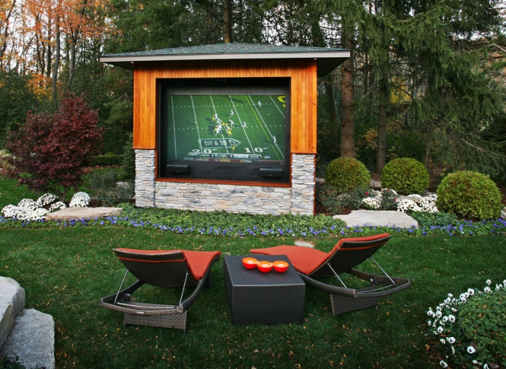 Diy Outdoor Home Theater Design