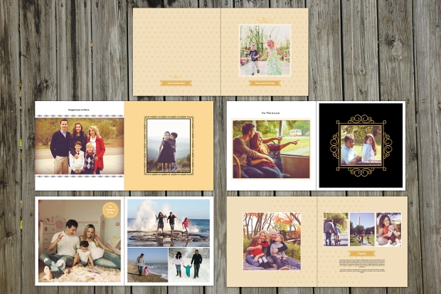 family photo album design
