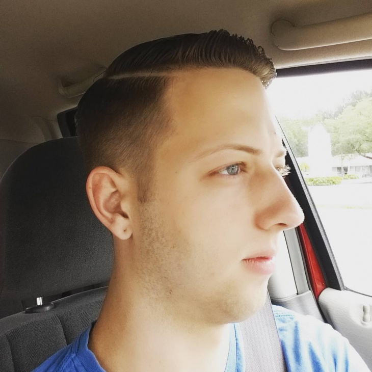 Short Side Comb Over Haircut
