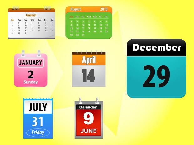 Wall Calendar Icons