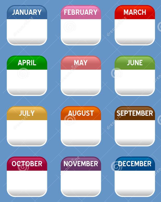 Mobile Calendar Icons