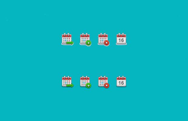 Small Calendar Icons