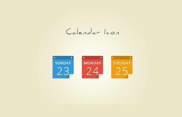 colored calendar icons