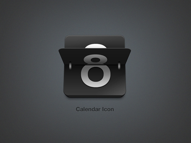 black calendar icon design