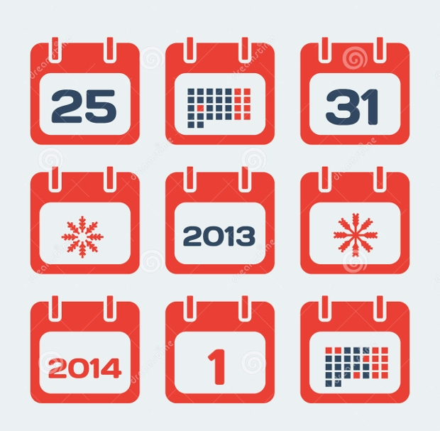 Red Calendar Icons