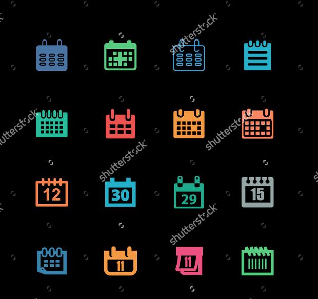 Modern Calendar Icons