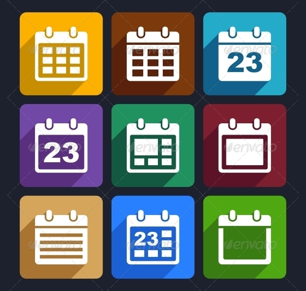 abstract calendar icons