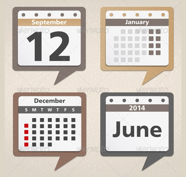 business calendar icons