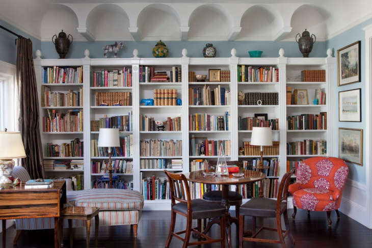 home library bookcases design