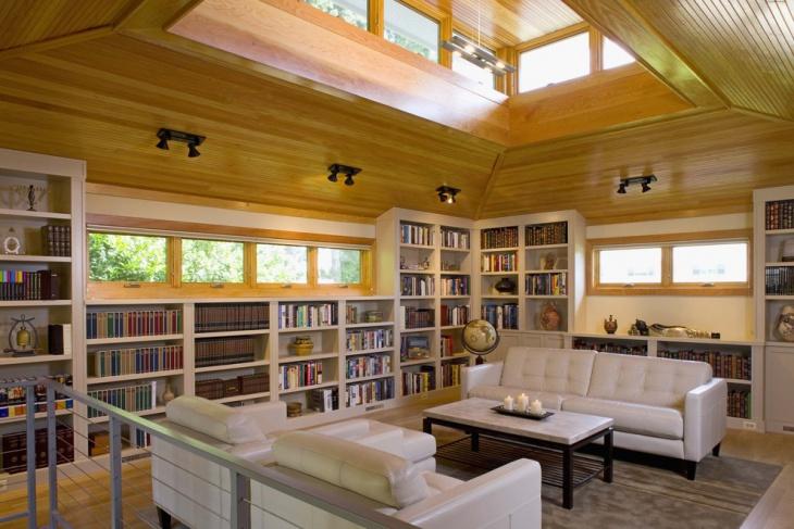 Residential Library Lighting Design