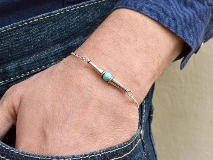spiked mens bracelet idea