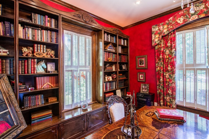 Victorian Home Library Design