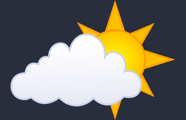 sun and clouds clipart