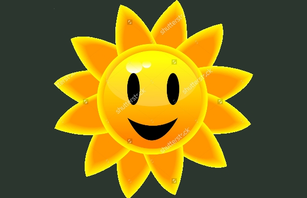sun face clipart
